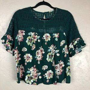 Xhilaration floral blouse medium